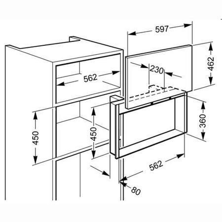 Smeg PMO100NE2 Linea Integrated Door for Microwave Oven