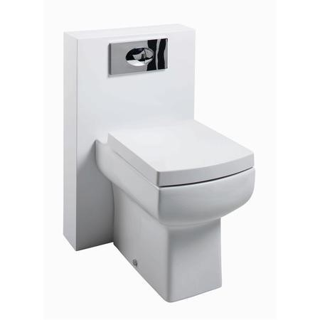 Polymarble Back to Wall WC Toilet Unit - Includes Square Toilet - W500 x H790mm