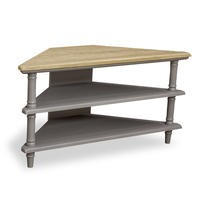Signature North Chloe Grey Corner TV Stand
