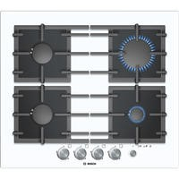 Bosch PPP612M91E Exxcel Glass Base 59cm Gas Hob in White