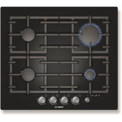 Bosch PPP616M91E Exxcel Glass Base 59cm Gas Hob in Black