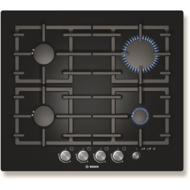 PPP616M91E Bosch PPP616M91E Exxcel Glass Base 59cm Gas Hob in Black