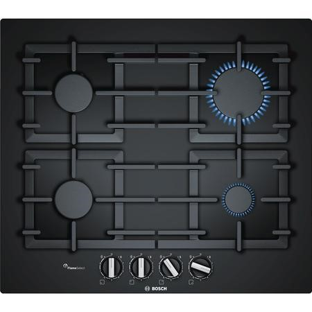 Bosch PPP6A6B90 Serie 6 60cm Four Burner Gas Hob in Black