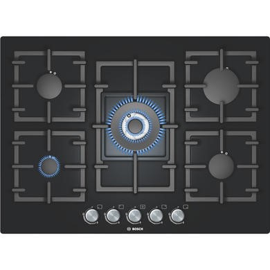 PPQ716B91E Bosch PPQ716B91E Avantixx Glass Base 71cm Gas Hob in Black