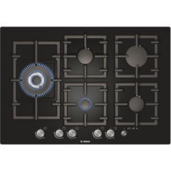 Bosch PPS816M91E Exxcel Frameless 75cm Gas-on-glass Hob - Black