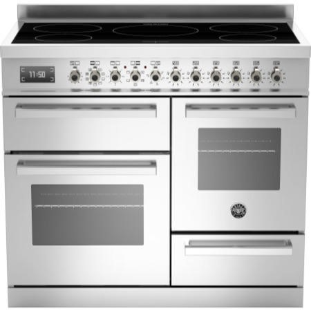 Bertazzoni PRO100-5IND-MFE-T-XT PRO100-5I-MFE-T-XT Professional 100cm Electric Range Cooker With 5 Zone Induction Hob Tw