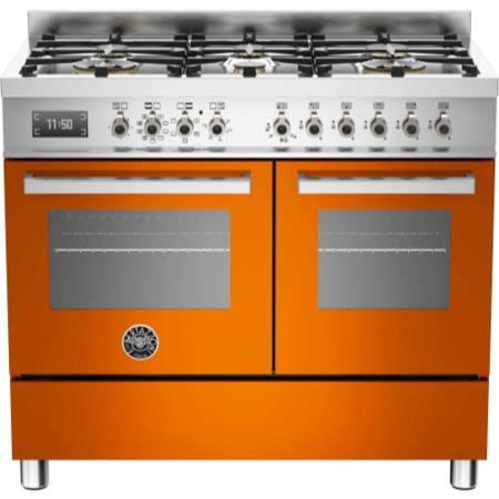Bertazzoni PRO100-6-MFE-D-ART Professional Series 100cm Dual Fuel Range Cooker With A Double Oven-Or