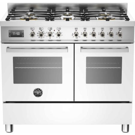 Bertazzoni PRO100-6-MFE-D-BIT Professional 100cm Dual Fuel Range Cooker With 6 Burners And Two Ovens