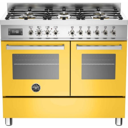 Bertazzoni PRO100-6-MFE-D-GIT Professional 100cm Dual Fuel Range Cooker With 6 Burners And Two Ovens