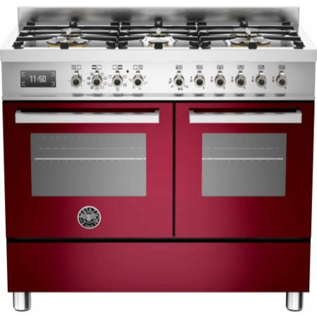 Bertazzoni PRO100-6-MFE-D-VIT Professional 100cm Dual Fuel Range Cooker With 6 Burners And Two Ovens
