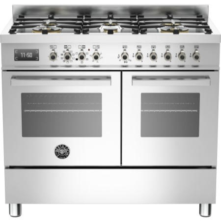 Bertazzoni PRO100-6-MFE-D-XT Professional Series 100cm Dual Fuel Range Cooker in Stainless Steel