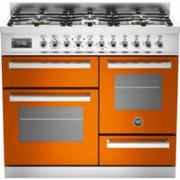 Bertazzoni PRO100-6-MFE-T-ART Professional 100cm Dual Fuel Range Cooker With 6 Burners Two Ovens And
