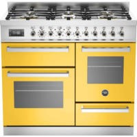 Bertazzoni PRO100-6-MFE-T-GIT Professional 100cm Dual Fuel Range Cooker With 6 Burners Two Ovens And
