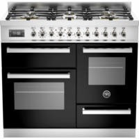 Bertazzoni PRO100-6-MFE-T-NET Professional 100cm Dual Fuel Range Cooker With 6 Burners Two Ovens And