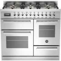 Bertazzoni PRO100-6-MFE-T-XT Professional 100cm Dual Fuel Range Cooker With 6 Burners Two Ovens And
