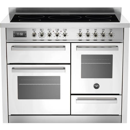 Bertazzoni PRO1105IMFETBIT 110cm XG Bertazzoni Professional Electric Range Cooker With 5 Zone Induct