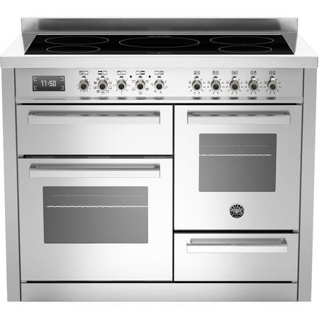 Bertazzoni Professional Series 110cm Electric Range Cooker with Induction Hob - Stainless Steel