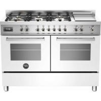 Bertazzoni PRO120-6G-MFE-D-BIT Professional 120cm Dual Fuel Range Cooker With 6 Burners And Two Oven