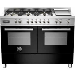 Bertazzoni PRO120-6G-MFE-D-NET Professional 120cm Dual Fuel Range Cooker With 6 Burners And Two Oven