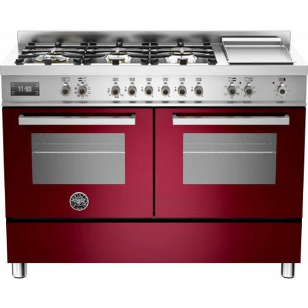 Bertazzoni PRO120-6G-MFE-D-VIT Professional 120cm Dual Fuel Range Cooker With 6 Burners And Two Oven