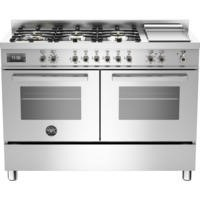 Bertazzoni PRO120-6G-MFE-D-XT Professional 120cm Dual Fuel Range Cooker With 6 Burners And Two Ovens