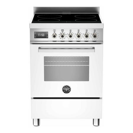 Bertazzoni PRO604IMFESBIT Professional 60cm Electric Cooker with Induction Hob - White