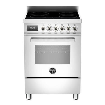 Bertazzoni PRO604IMFESXT Professional 60cm Electric Cooker with Induction Hob - Stainless Steel