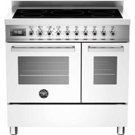Bertazzoni PRO90-5I-MFE-D-BIT Professional Series 90cm Electric Induction Range Cooker With A Double