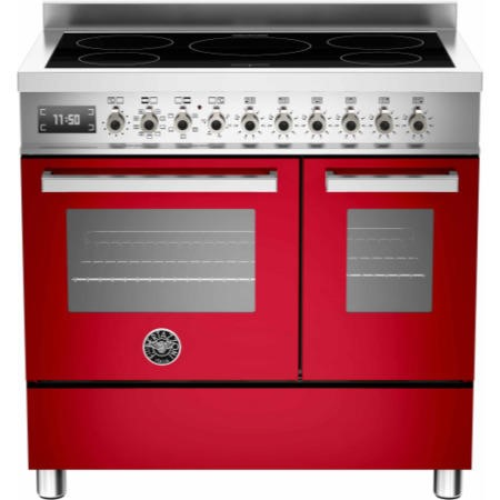 Bertazzoni PRO90-5I-MFE-D-ROT Professional Series 90cm Electric Induction Range Cooker With A Double