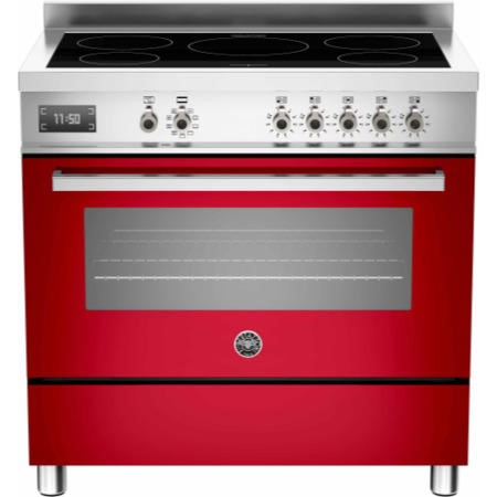 Bertazzoni PRO90-5I-MFE-S-ROT Professional Series 90cm Electric Induction Range Cooker With A Single