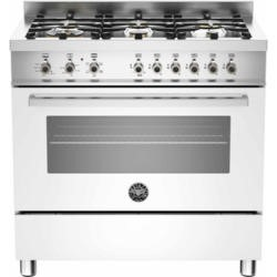 Bertazzoni PRO90-6-HYB-S-BIT Professional 90cm Dual Fuel Range Cooker With 6 Burners And A Dual Ener