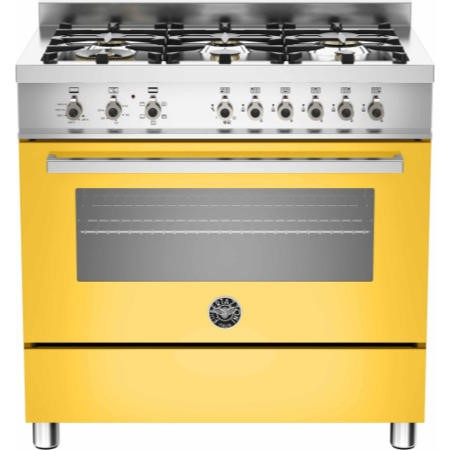 Bertazzoni PRO90-6-HYB-S-GIT Professional Series 90cm Dual Fuel Range Cooker With  A Dual Energy Sin