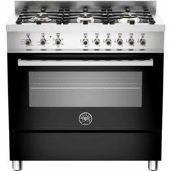 Bertazzoni PRO90-6-HYB-S-NET Professional 90cm Dual Fuel Range Cooker With 6 Burners And A Dual Ener