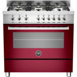 Bertazzoni PRO90-6-HYB-S-VIT Professional 90cm Dual Fuel Range Cooker With 6 Burners And A Dual Ener
