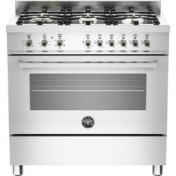 Bertazzoni PRO90-6-HYB-S-XT Professional 90cm Dual Fuel Range Cooker With 6 Burners And A Dual Energ