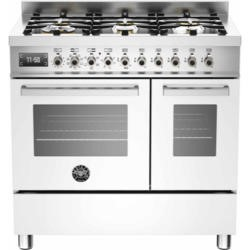 Bertazzoni PRO90-6-MFE-D-BIT Professional 90cm Dual Fuel Range Cooker With 6 Burners And Two Ovens W
