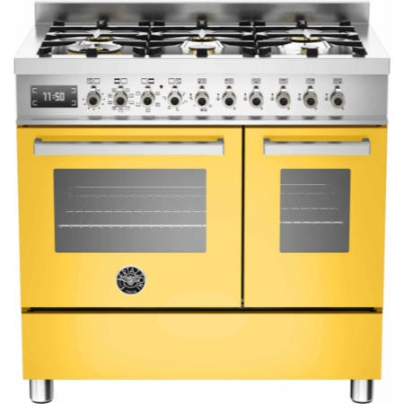 Bertazzoni PRO90-6-MFE-D-GIT Professional Series 90cm Dual Fuel Range Cooker With A Double Oven-Yell