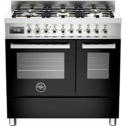 Bertazzoni PRO90-6-MFE-D-NET Professional 90cm Dual Fuel Range Cooker With 6 Burners And Two Ovens B
