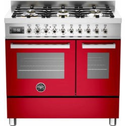 Bertazzoni PRO90-6-MFE-D-ROT Professional 90cm Dual Fuel Range Cooker With 6 Burners And Two Ovens R
