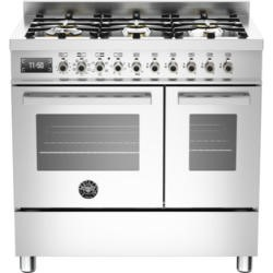 Bertazzoni PRO90-6-MFE-D-XT Professional 90cm Dual Fuel Range Cooker With 6 Burners And Two Ovens St