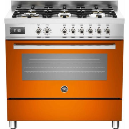 Bertazzoni PRO90-6-MFE-S-ART Professional 90cm Dual Fuel Range Cooker With 6 Burners And One Oven Or