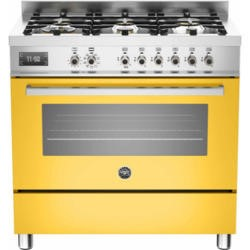 Bertazzoni PRO90-6-MFE-S-GIT Professional 90cm Dual Fuel Range Cooker With 6 Burners And One Oven Ye