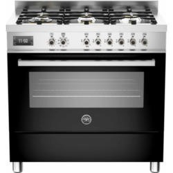 Bertazzoni PRO90-6-MFE-S-NET Professional 90cm Dual Fuel Range Cooker With 6 Burners And One Oven Bl