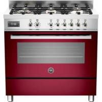 Bertazzoni PRO90-6-MFE-S-VIT Professional 90cm Dual Fuel Range Cooker With 6 Burners And One Oven Bu