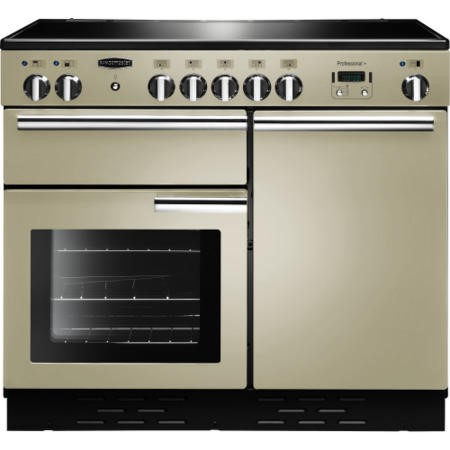 Rangemaster 96040 Professional Plus 100cm Electric Range Cooker With Induction Hob - Cream