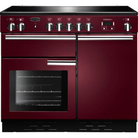 Rangemaster 96050 Professional Plus 100cm Electric Range Cooker With Induction Hob - Cranberry