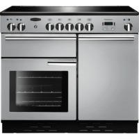 Rangemaster 96020 Professional Plus 100cm Electric Range Cooker With Induction Hob - Stainless Steel