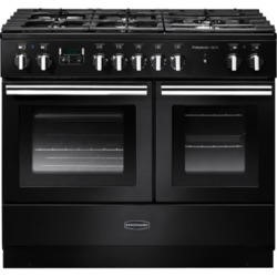 Rangemaster 100010 ProfessionalPlus FX 100cm Dual Fuel Range Cooker In Gloss Black