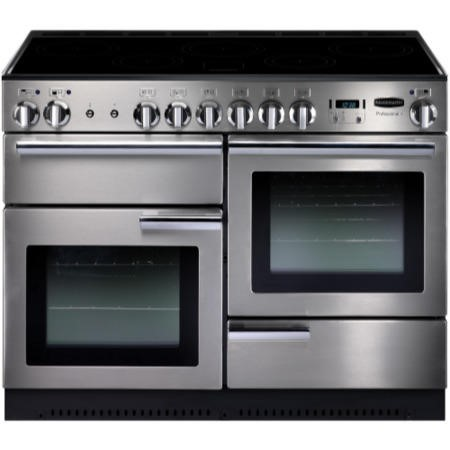 Rangemaster PROP110EISSC Professional Plus 110cm Electric Range Cooker with Induction Hob - Stainless Steel