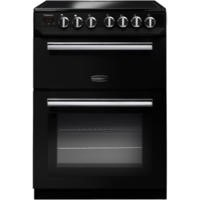 Rangemaster 10729 Professional+ 60cm Electric Cooker With Ceramic Hob Black And Chrome